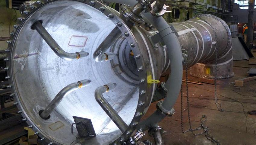 конус вентури с установленным форсуночным блоком