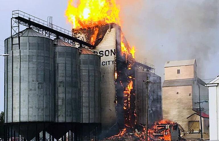 взрыв зерновой пыли
