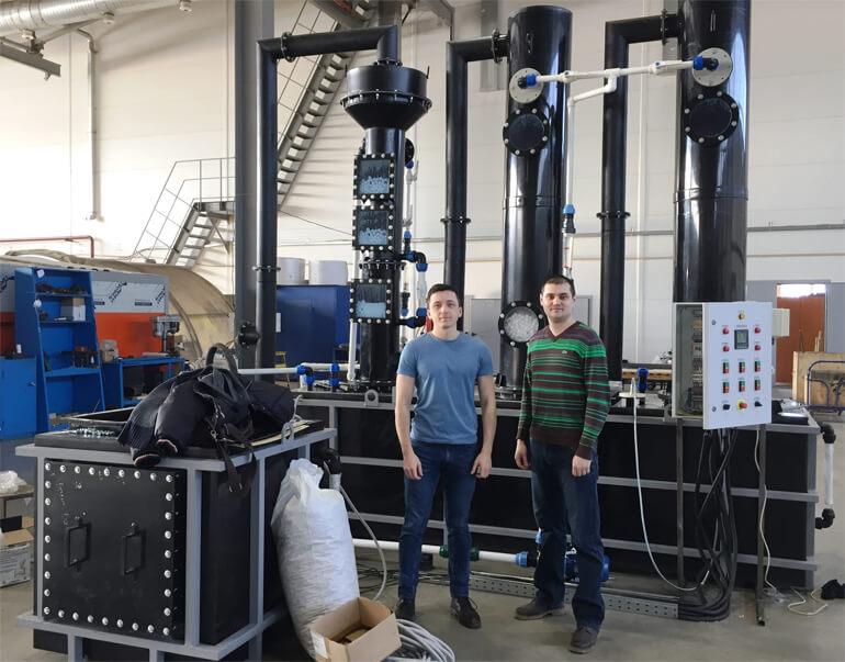 система обогащения биогаза